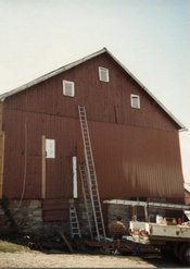 Metal Siding on Barn by Bitner Construction