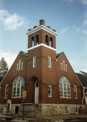 Wrap Woodwork on Church Bell Tower by Bitner Construction