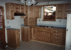 New Kitchen Cabinets with Counter Tops by Bitner Construction