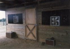Barn with Stalls Inside by Bitner Contruction