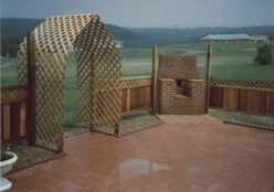 Brick Patio, Fence, and Bar-B-Que by Bitner Construction