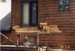 Repairing Log Home by Bitner Construction